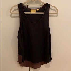 Anthropologie Black Silk top